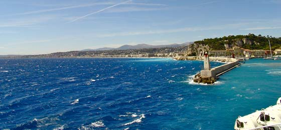 Leaving Nice, France on the ferry to Corsica