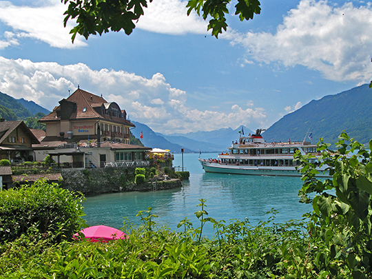 Ferry in Iseltwald   Lake Brienz   June 2014