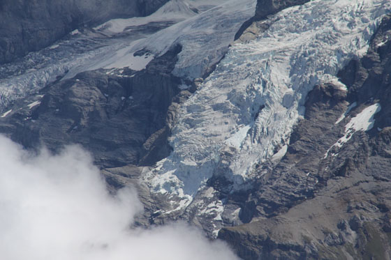 Giesengletscher, the Jungfrau glacier   viewed from the Schilthorn   August 2011
