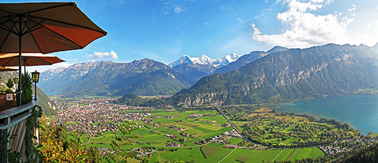 Interlaken viewed from Restaurant Luegibruggli   Septembre 2014