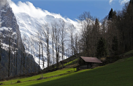Lauterbrunnen Valley   the Mittaghorn in the background   April 2012