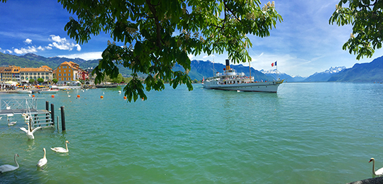 Le Léman aka Lake Geneva in Vevey   August 2015