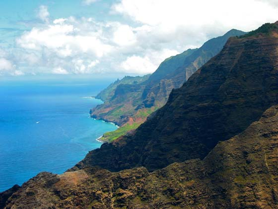 Na'Pali coast from Lolo Vista