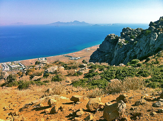 Looking South towards Gyali & Nissyros