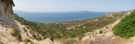 Overlooking the Kefalos Bay