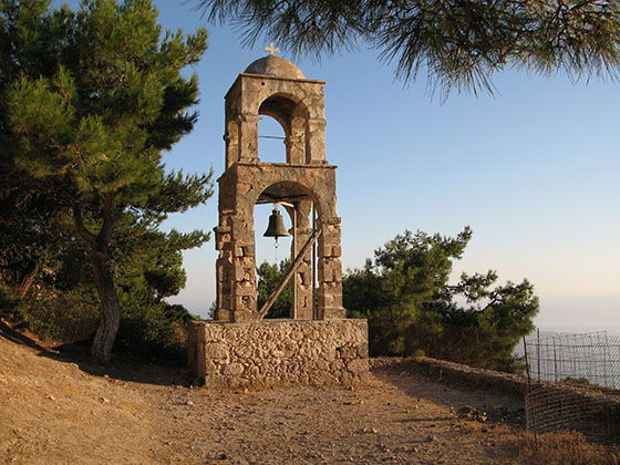 Old bell tower of the Monastery of Agios Ioannis (Saint John) near Kefalos