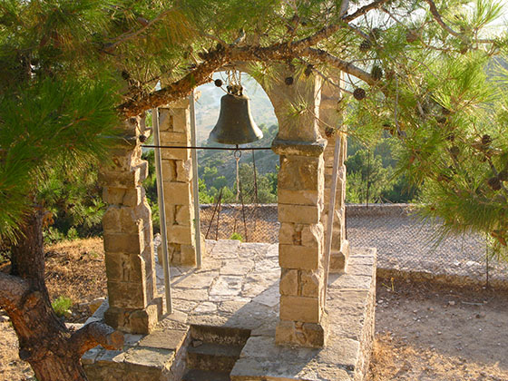 The bell of Agios Ioannis at magic hour