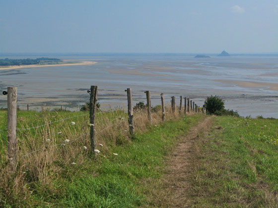 View from near Champeaux   The flat land explains why the tide's speed is so visually impressive
