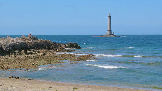 Goury lighthouse at Cap de La Hague   built in 1837 at the northwestern tip of the Cotentin peninsula