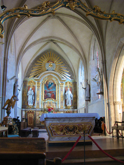 Inside the church of Sainte M�re �glise