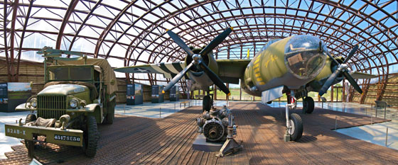 Martin B 26 Marauder at the Utah Beach Museum