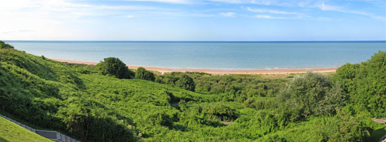 Omaha Beach viewed from the cemetery