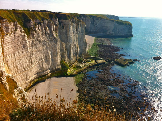 100 meter high cliffs of Etretat