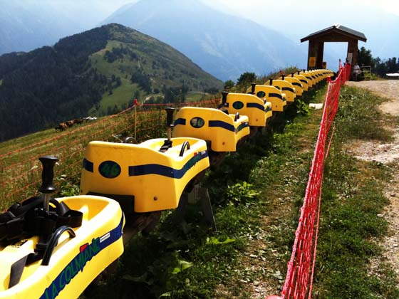 Roller coaster and hiking in the Alps, France