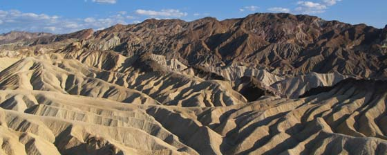 View from the bench at Zabriskie Point