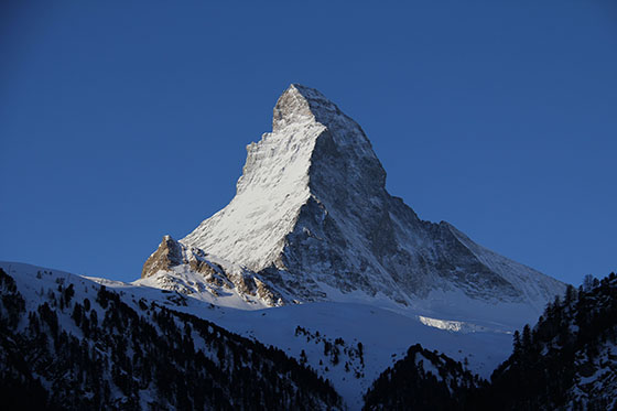 The Matterhorn viewed from Hotel Kronig
