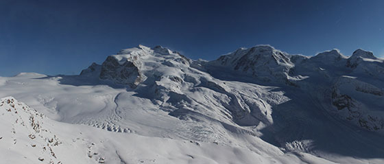 Monte Rosa and Liskamm (also spelled Lyskamm)